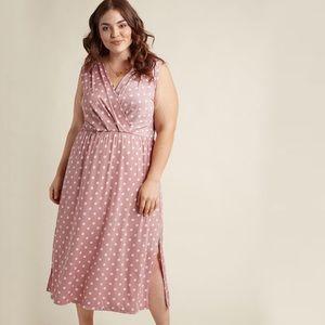 Gilli Modcloth Polka Dot Midi Dress Size 2X